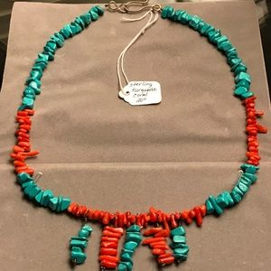 Authentic Turquoise and Coral Necklace